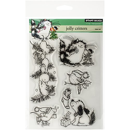 Penny Black 30-264 Decorative Rubber Stamps, Jolly Critters