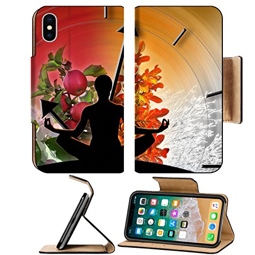 Luxlady Premium Apple iPhone X Flip Pu Leather Wallet Case IMAGE ID: 24969582 Female yoga figure against collage of pictures representing four seasons of the year Circle of life - Free Images Four Seasons