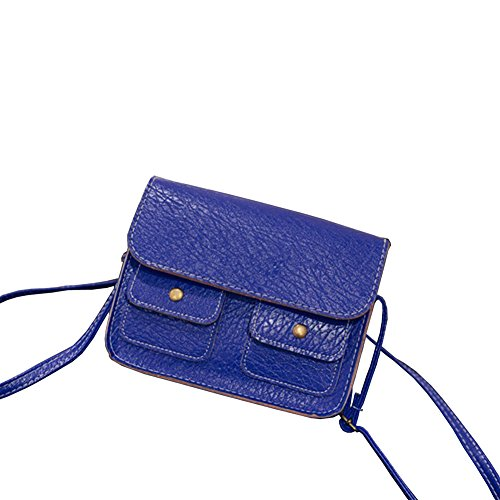 Blue Women Vintage Handbag Tote Purse Shoulder Bags Satchel Messenger Cross Body Bag Sincere-handbag0085