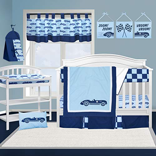 Pam Grace Creations 13 Piece Crib Bedding Set, Cars