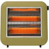 ±0 Infrared Electric Heater XHS-U010 プラスマイナスゼロ 遠赤外線電気ストーブ [グリーン]