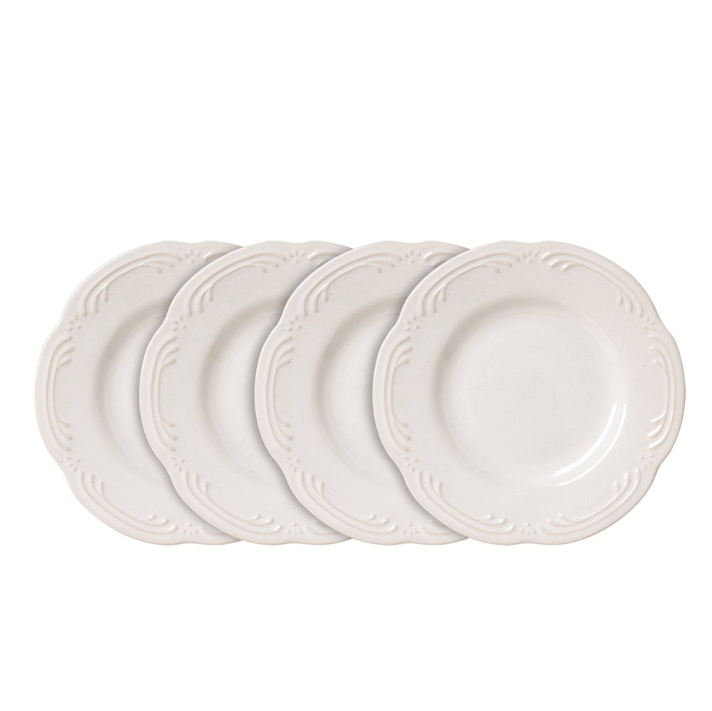 Pfaltzgraff Filigree Bread and Butter or Dessert Plates (6-1/4-Inch, Set of 4), White
