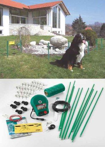 Elektrozaun-Garten-Schutz-Zaun-Set Draht+Pfähle+Stromgerät+Zubehör