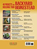 40 Projects for Building Your Backyard Homestead: A Hands-on, Step-by-Step Sustainable-Living Guide (Creative Homeowner) Includes Fences, Coops, Sheds, Wind & Solar Power, Rooftop & Vertical Gardening