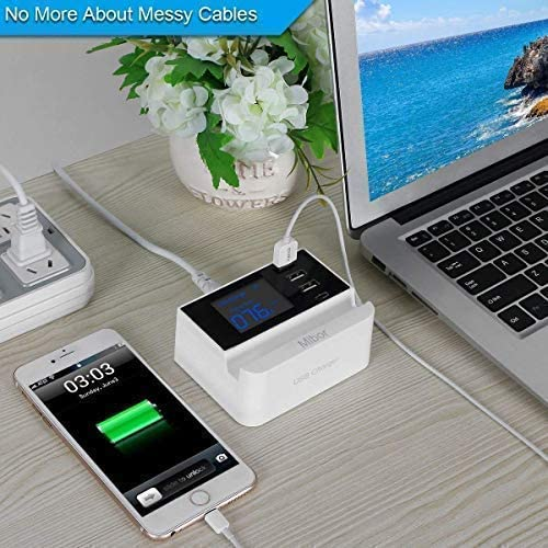Nexus HTC and More Galaxy S7 // S6 // Edge//Plus iPad Pro//Air 2 // Mini//iPod LG USB Charging Station,Mibor USB Wall Charger for iPhone X// 8//7 // 6s // Plus Note 5//4