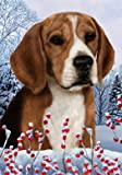 Cheap Beagle – Best of Breed Winter Berries Large Flag