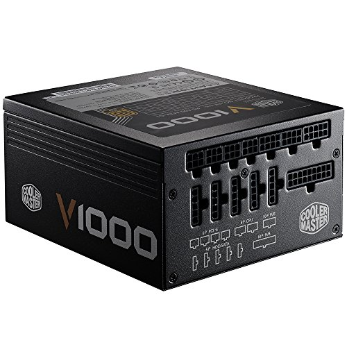 Cooler Master V1000 - Fully Modular 1000W 80 PLUS Gold PSU with Silencio Silent 135mm fan (6th Generation Skylake Ready) by Cooler Master (Image #3)