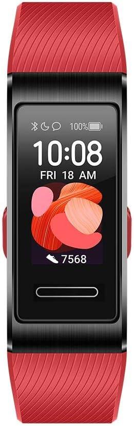 HUAWEI Band 4 Pro - Pulsera de actividad con pantalla AMOLED de 0.95 pulgadas, monitorización continua con TruSeen 3.5 24/7, monitoreo del sueño, GPS incorporado, 5 ATM, color cinnabar red