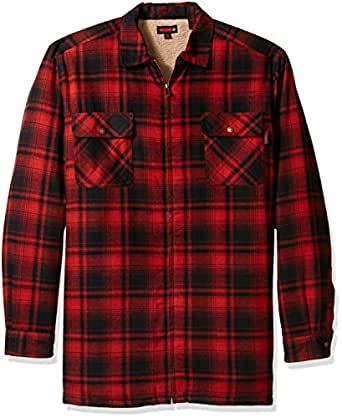 Wolverine men 39 s big and tall marshall flannel for Big and tall lined flannel shirts