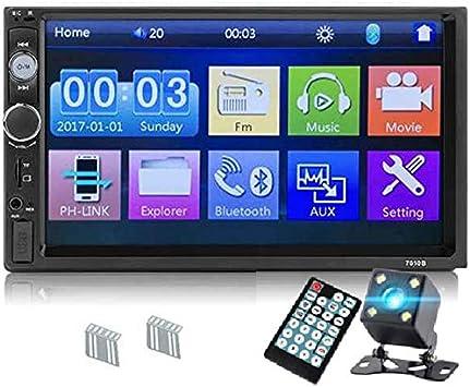 Toogoo 7010b 2 Din Auto Radio 7 Zoll Spieler Mp5 Kontakt Bildschirm Multimedia Spiegel Android Auto Rückfahr Kamera Monitor 4led Auto