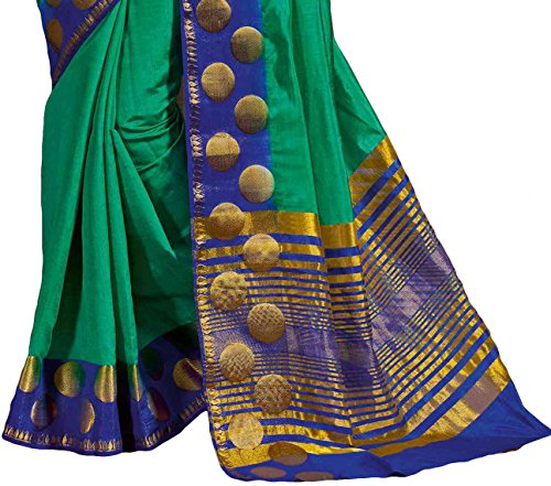 Attractive-Green-Tussar-Silk-Traditional-Saree