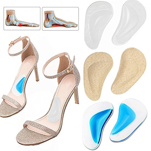 Silicone Arch Support Insoles Flat Feet Correct Gel Orthotic Cushion Relieves Pain Reduce Pressure