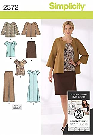 Simplicity Schnittmuster 2372-Misses\'&&Casual Smart Plus Size ...
