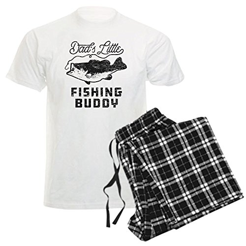 CafePress Dad's Little Fishing Buddy - Unisex Novelty Cotton Pajama Set, Comfortable PJ Sleepwear - Dads Little Fishing Buddy