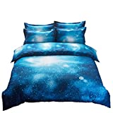 2 PIECE Galaxy Bedding Set Oil Print Duvet Cover Set Kids Bedding for Boys and Girls( Twin,6)