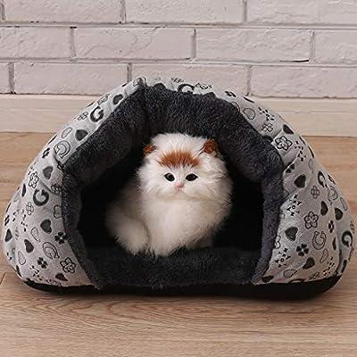Invierno cálido y cálido mascota cómodo perro de compañía cojín de ...