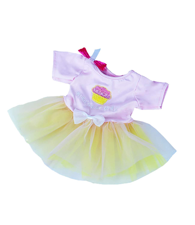 Birthday girl cupcake dress. Fits Most 14 - 18 Stuffed Animals