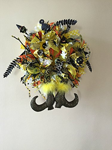 Halloween Deco Mesh Witch Wreath (Guirnalda Decoracion Halloween)