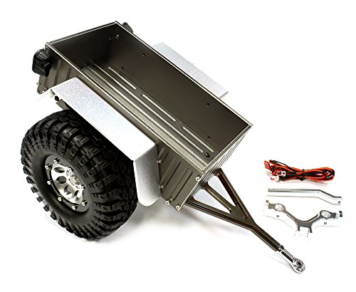 Integy RC Model Hop-ups C25748GUN Realistic Complete 1/10 Size Utility Box Trailer (Toy) for Scale Crawler Truck