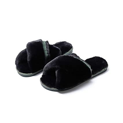 d4ef89bae39 Amazon.com  ASO-SLING Women s Cozy Comfort Slipper Memory Foam Criss ...
