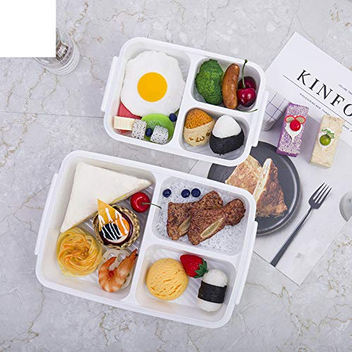 Plastic Microwave Bento Boxes 3 Grids Oven Lunch Box Picnic Food Storage Container Travel Lunchbox Food Storage Boxes