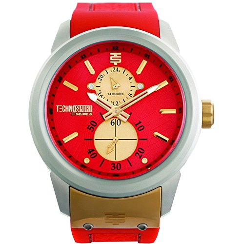 Technosport TS6-1000-6 Women's Watch Coral Multifunction Movement With Gold-Tone Accents