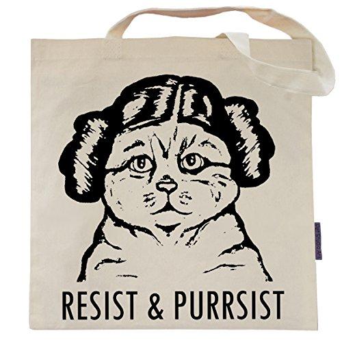 Cat Tote Bag by Pet Studio Art (Casual Tote, Resist and Purrsist)