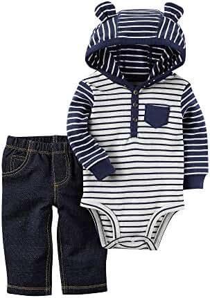 Carter's Baby Boys' 2 Piece Hooded Bodysuit Pants Set
