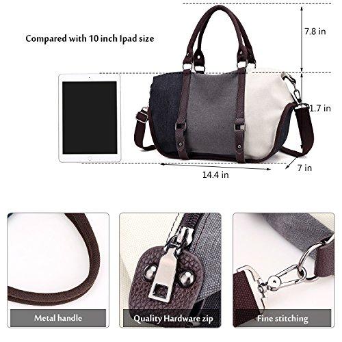 Type13 Black grey white Shoulder Bag Tote Women's qw8x4t0t