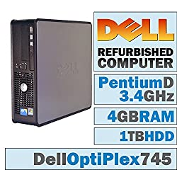 Dell Optiplex 745 Sffpentium D 950 @ 3.4 Ghz4gb Ddr21tb Hdddvd-rwwindows 7 Pro 64 Bit