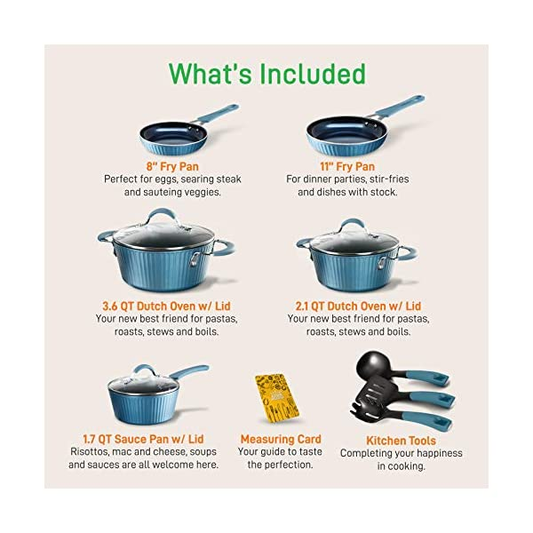 NutriChef Nonstick Cookware Excilon Home Kitchen Ware Pots & Pan Set with Saucepan, Frying Pans, Cooking Pots, Lids… 2