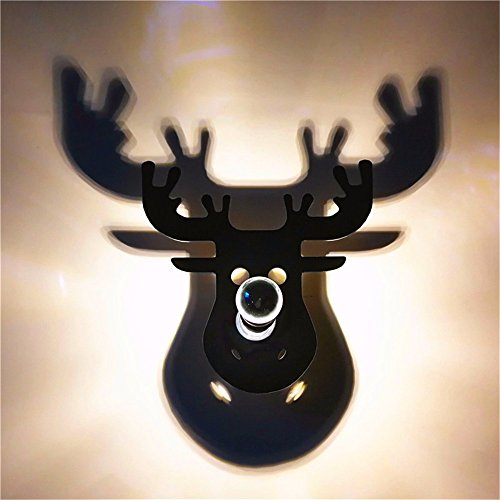 - LED Wall Lights Wall Sconce The Ultra-Light Wall Creative Acrylic Head Decorative Wall lamp elk Style Bed and Breakfast bar and Restaurant Wall Lights, Warm Off + elk, a Diameter of 28cm