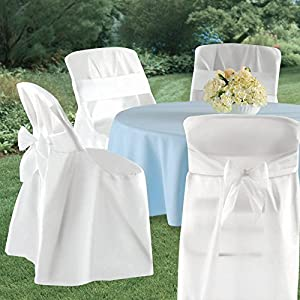 amazon com folding chair covers white party accessory toys games