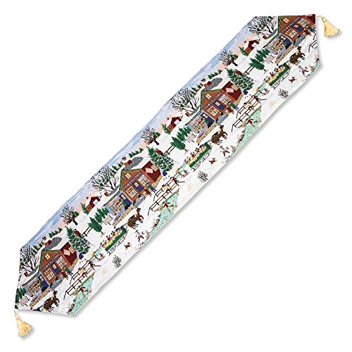 Winston Tapestry - Collections Etc Winter Scene Tapestry Table Runner