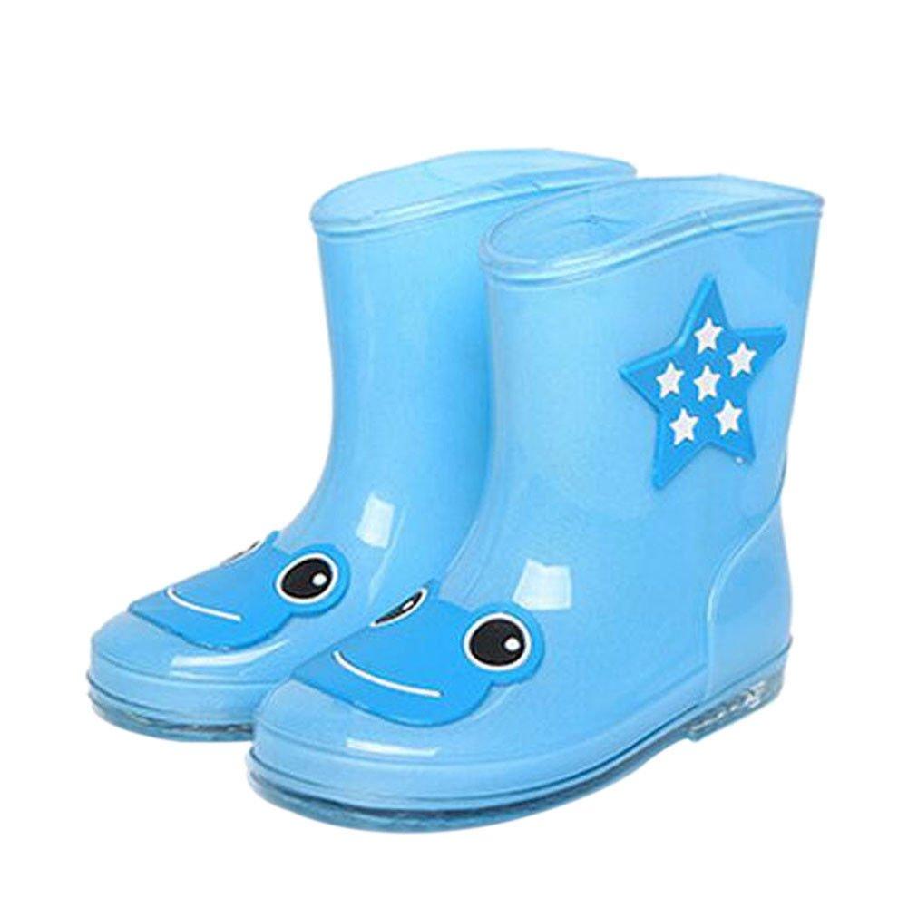 Meijunter Kid Waterproof Cute Rain Boots Boys Girls Rain Shoes Non-Slip Water Boots Snow Boots