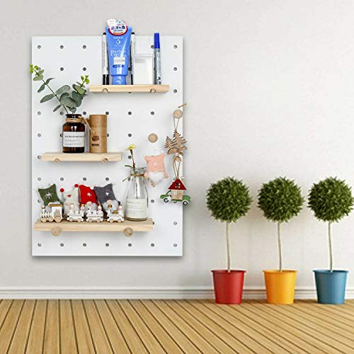 Huayao DIY Wall Pegboard Controller Closet Organization Storage for Living Room/Kitchen/Bathroom/Office, 40 X 60CM