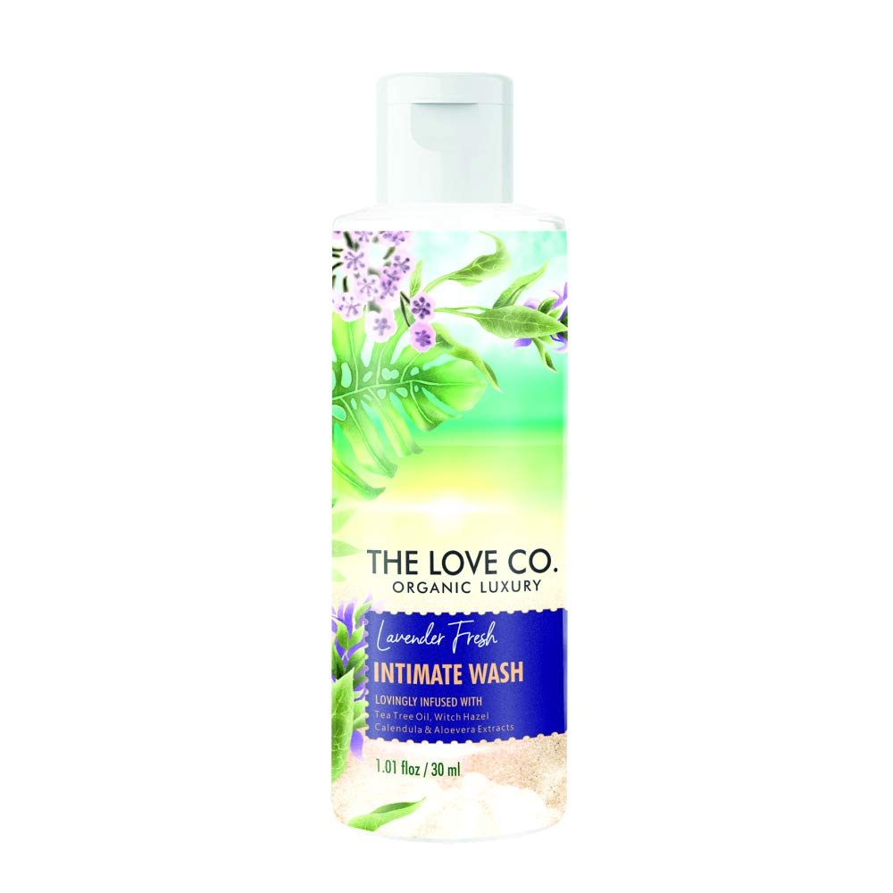 THE LOVE CO. Intimate wash For Men & Women, Travel Size Toiletries- Lavender