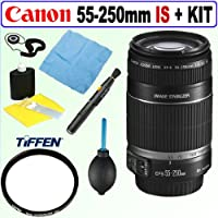 Canon EF-S 55-250mm f/4.0-5.6 IS II Telephoto Zoom Lens + Tiffen 58mm UV Prot...