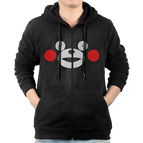 GGDDAA Men Cute Kawai Japan Bear Visor Funny Hoodie Hooded Sweatshirt Casual Style XXL Black ()