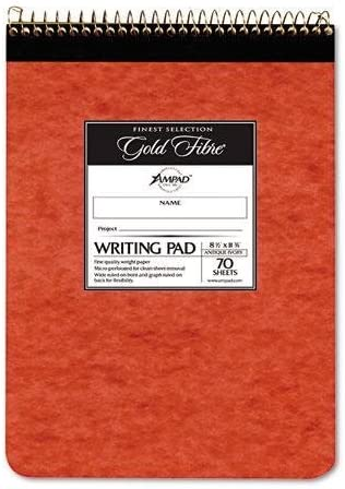 8 1//2 x 11 3//4 70 Sheets TOPS 63631 Docket Wirebound Ruled Pad w//Cover White