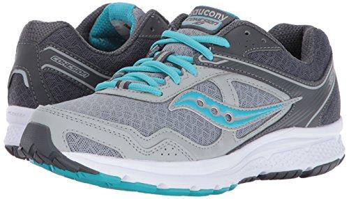 Saucony Women's Cohesion 10 Running Shoe, Grey Blue, 6.5 Medium US