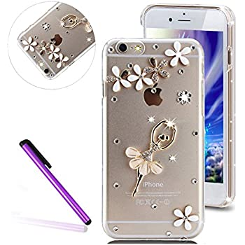 83b3a43a733 iPhone SE Case 5 Case iPhone 5S Case EMAXELER Bling Swarovski Crystal  Rhinestone Diamond Clear Slim