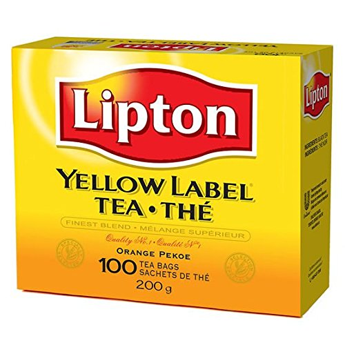 Lipton Yellow Label Tea Bags 100ct (Pack of 4) ()