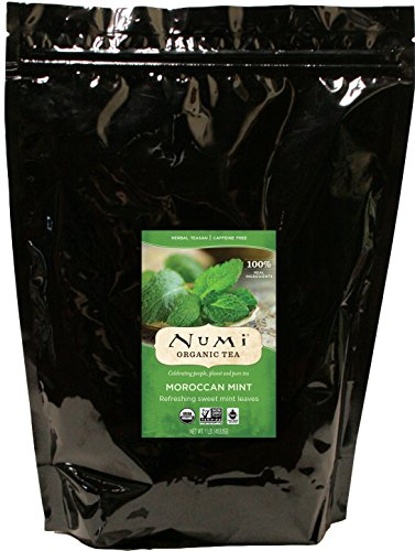 Numi Organic Tea Moroccan Mint, 16 Ounce Pouch, Loose Leaf Herbal Teasan (Packaging May Vary) - Organic Peppermint Leaf