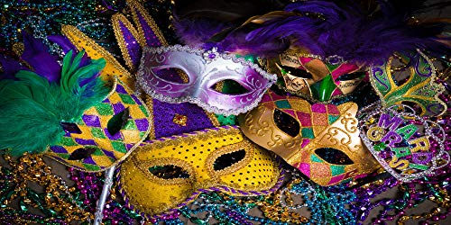 Kate 20x10ft Mardi Gras Photography Backdrops Colorful Crystals Mask Photo Background Costume Ball Carnival Backdrop for Photography