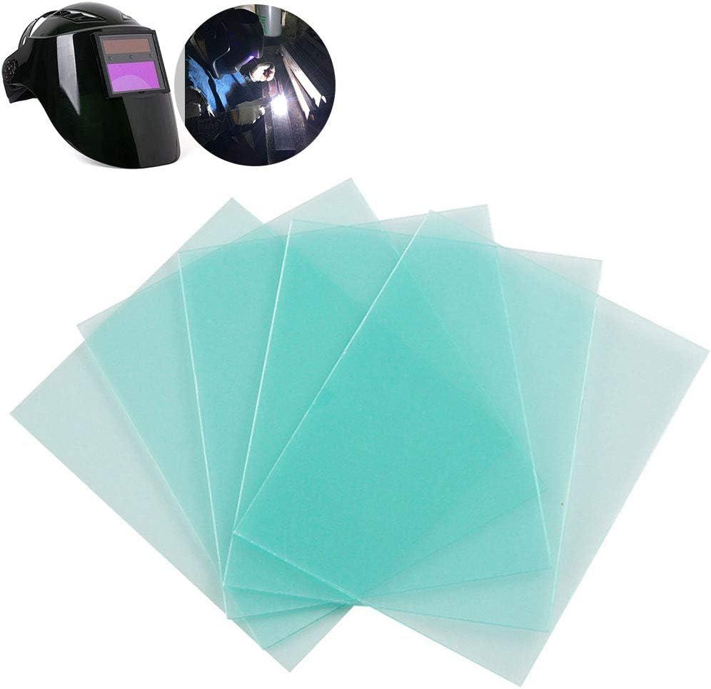 115 90 mm Lot de 10 masques de soudure en polycarbonate pour casque de soudure Anti-/éclaboussures Auto-obscurcissement solaire L/égers