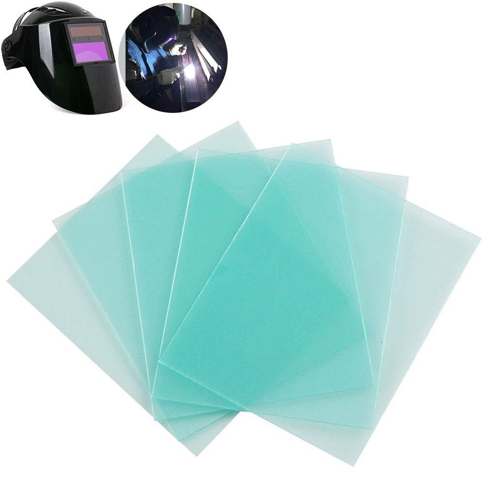 tapa de soldadura filtro de soldar Lote de 10 placas de protecci/ón para m/áscara de soldar placa de protecci/ón solar de pl/ástico