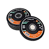 Fokus 10 Pack 5''x 7/8'' Premium Zirconia Flap Disc Grinding Wheel Type 29 Angel Grinder (Grit 40#)