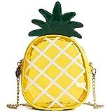 Latest Novelty Cute Clear Pineapple Shape Shoulder Mini Bag for Women (Pineapple)