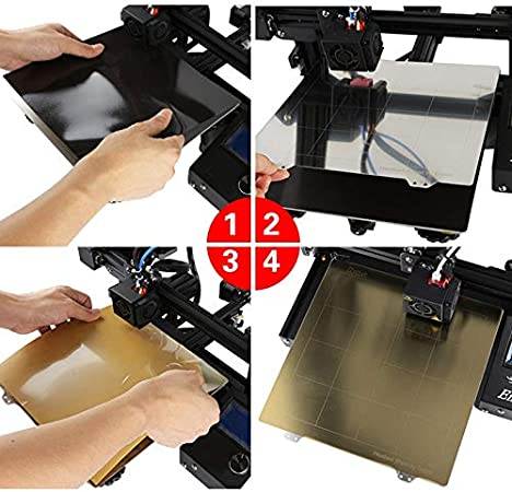 Magnetic Sticker B Surface SODIAL 3D Printing Accessories Ender 3 Pro Hot Bed Platform 235X235Mm Steel Plate Pei For Creality Ender 3